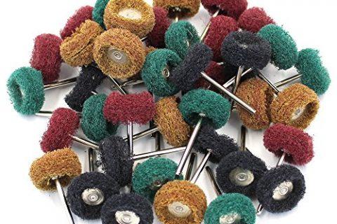 M-Aimee 40Pcs 1″ 25mm Abrasive Buffs Polishing Buffing Wheel for Dremel Rotary Tool Grinding Accessories