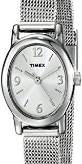 Timex Women's T2N743 Cavatina Silver-Tone Stainless Steel Mesh Bracelet Watch