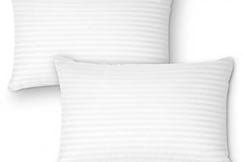DreamNorth PREMIUM Gel Pillow Loft Pack of 2 Luxury Plush Gel Bed Pillow For Home + Hotel Collection Good For Side and Back Sleeper Cotton Cover Dust Mite Resistant & Hypoallergenic – Queen Size