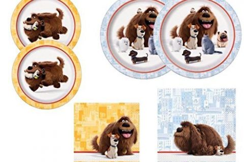 The Secret Life of Pets Plates and Napkins Party Kit for 16 Guests