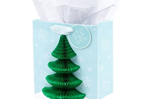 Hallmark Medium Christmas Gift Bag with Tissue Paper Honeycomb Tree