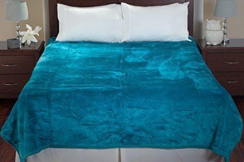 Aqua – Lavish Home Solid Soft Heavy Thick Plush Mink Blanket 8 pound