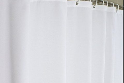 Eforcurtain Bath Stall Size 36 by 72-inch Heavy Duty Fabric Shower Curtain, Waterproof and Mildew-Free Bathroom Curtain Hotel, Pure White