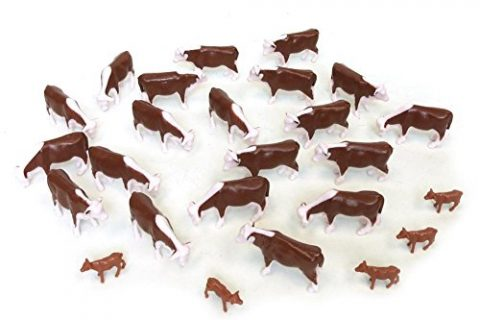 ERTL Hereford Cows Pkg of 25 1:64 Scale