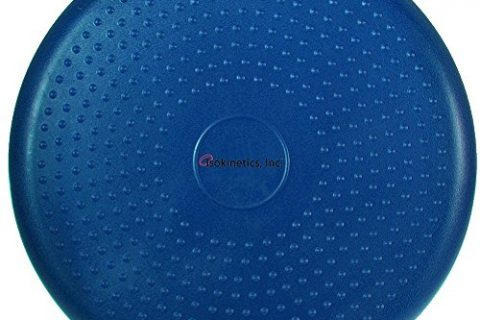 Isokinetics Inc. Balance Disc – 14″ Round – Blue – Pre-Inflated Stability Cushion for Therapy, Exercise, Core Training, Seats