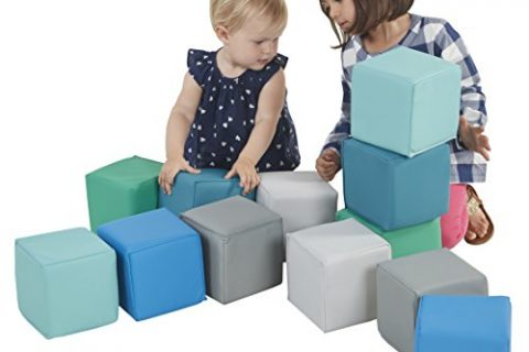 1 – ECR4Kids Softzone Toddler Play Soft Blocks 12-Piece, Contemporary
