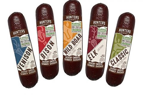 Hunters Reserve, Taste of The Wild Summer Sausages, Hickory Smoked, 5 Wild Game Flavors – Variety Gift Pack
