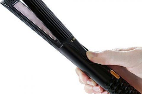 K-SKIN Ceramic Flat Iron 2-in-1 Straightener for Curling and Straightening Black
