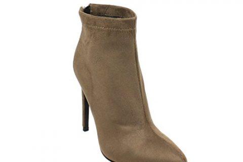 BESTON EK36 Women's Fashion Back Zipper Ankle High Booties Half Size Small