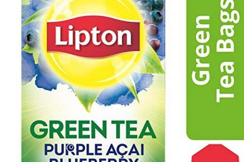Lipton Green Tea Bags, Purple Acai Blueberry, 20 ct Pack of 6
