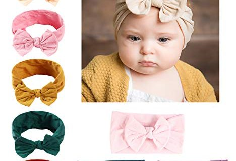 DANMY Baby Girl Nylon Headbands Newborn Infant Toddler Hairbands and Bows Child Hair Accessories