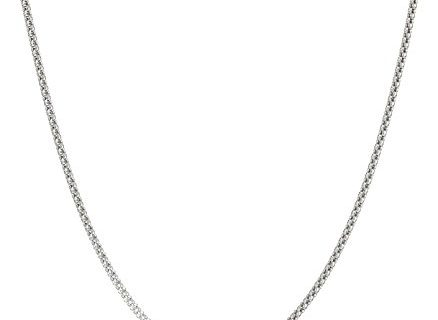 Sterling Silver 1.6mm Popcorn Chain Necklace, 24″