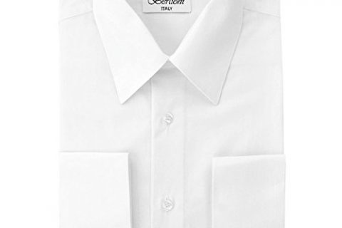 Berlioni Men's Dress Shirt – Convertible French Cuffs – Huge Color Selection
