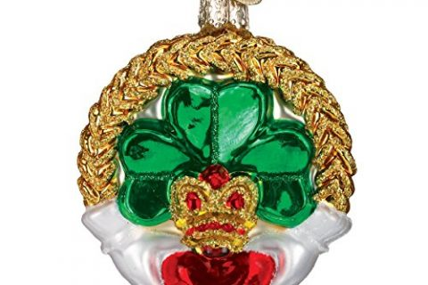 Old World Christmas Ornaments: Claddagh Glass Blown Ornaments for Christmas Tree