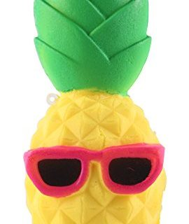 Anboor 6.3″ Squishies Pineapple Slow Rising Kawaii Scented Soft Squishies Toy for Kids or Stress Relief Cool Sunglasses