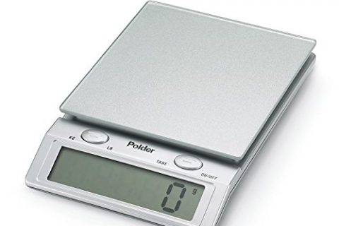 Polder KSC-310-28 Easy-Read Digital Glass Top Scale, 11-Pound 5 kg. Capacity