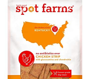 Spot Farms All Natural Human Grade Dog Treats, Chicken Strips With Glucosamine And Chondroitin, 12.5 Ounce
