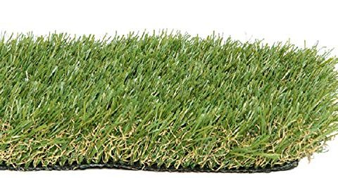 PZG Premium Artificial Grass Patch w/ Drainage Holes & Rubber Backing | 4-Tone Realistic Synthetic Grass Mat | 1.6-inch Blade Height | Lead-Free Fake Grass for Dogs or Outdoor Decor | Size: 5′ x 3.3′