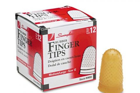 Sold As 1 Dozen – Rubber Finger Tips, Size 12, Medium/Large, Amber, 12/Pack – Extra thick material at tip for longer wear. – Surface nubs ensure positive grip. – High grade rubber for added durability. – – Tough, high quality tips last a long time. – Swingline Products – Swingline