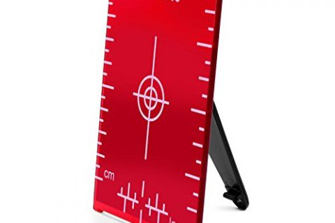 AdirPro Red Magnetic Floor Target Plate with Stand, 4″x3″