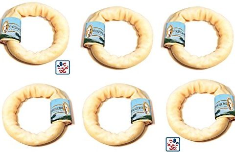 6 Pack Wholesome Hide Donut, 4 Inches each