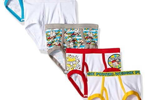 Dreamworks Captain Underpants 5 Pack Boys Brief, Multi, 8