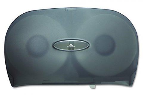 Georgia-Pacific GP 59209 Translucent Smoke Jumbo Jr. Two Roll Bathroom Tissue Dispenser, 20.02″ Width x 12.26″ Height x 5.67″ Depth
