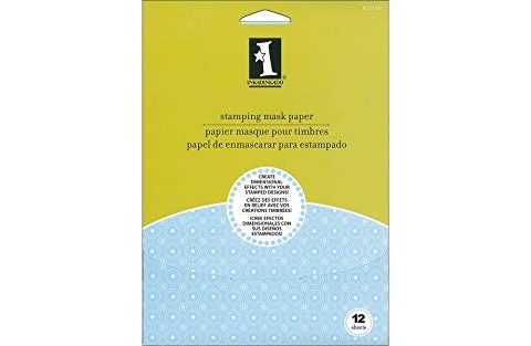 "Inkadinkado Stamp Masking Paper for Positioning Stamps, 12pc, 5"" x 7"""