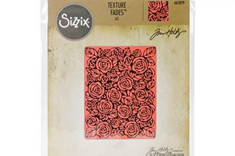 Sizzix Folder 661829 Texture Fades Embossing, Roses