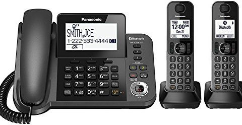 Panasonic KX-TGF382M Link2Cell Bluetooth Corded/Cordless Cordless Phone and Answering Machine with 2 Cordless Handsets Certified Refurbished