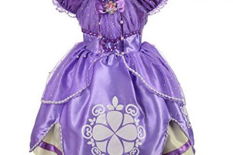 Dressy Daisy Girls' Princess Sofia Dress Up Costume Cosplay Fancy Party Dress Size 3T