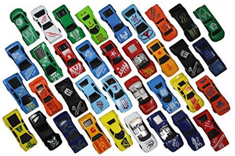 Free Wheeling Die Cast Metal Plastic Toy Cars Set of 36 Numbered Vehicles + Convertibles Great Gift, Party Favors or Cake Toppers – Race Car Toys Assorted for Kids, Boys or Girls