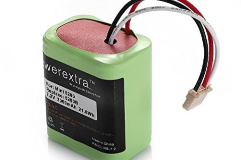 Powerextra 7.2V 3000mAh Ni-MH iRobot Mint 5200 Vacuum Replacement Battery Compatible with iRobot Braava 380, 380T, Mint 5200, 5200B, 5200C Floor Mopping Robots