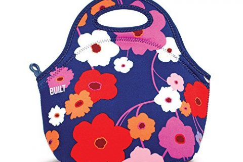 Lightweight, Insulated and Reusable Lush Flower – BUILT LB31-LSH Gourmet Getaway Soft Neoprene Lunch Tote Bag