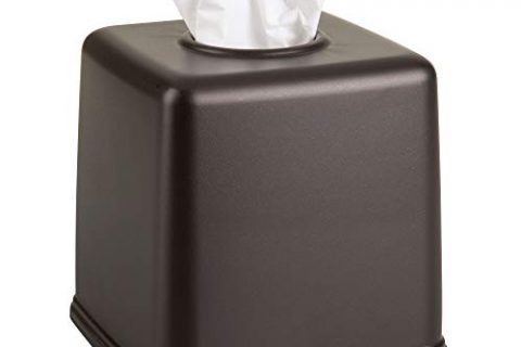 Bronze – mDesign Plastic Square Facial Tissue Box Cover Holder for Bathroom Vanity Countertops, Bedroom Dressers, Night Stands, Desks and Tables