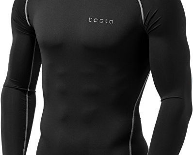 Tesla TM-YUD34-KLG_X-Large Men's Thermal Wintergear Compression Baselayer Long Sleeve Top YUD34