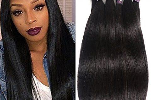 6 Bundles Extensions Hair Brazilian Straight Human Hair Weave Bundles Virgin Hair 50g/pcs
