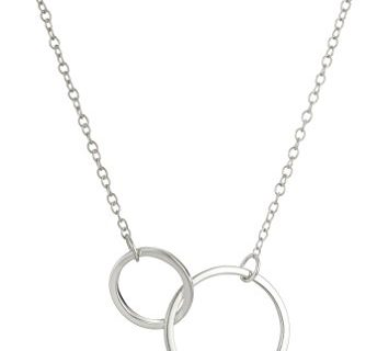 Sterling Silver Two-Circle Pendant Necklace