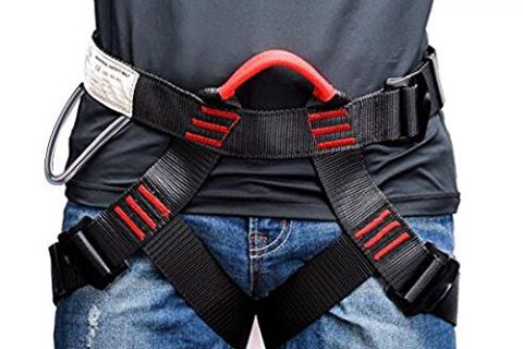 Weanas Thicken Climbing Harness, Protect Waist Safety Harness, Wider Half Body Harness for Mountaineering/Fire Rescuing/Rock Climbing/Rappelling / Tree Climbing