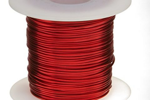 Remington Industries 18SNSP Magnet Wire, Enameled Copper Wire, 18 AWG, 1.0 lb, 201′ Length, 0.0415″ Diameter, Red