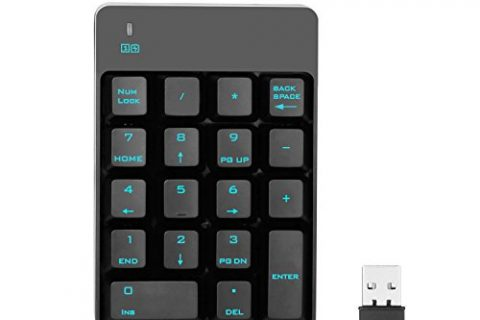 Jelly Comb 2.4G Number Pad, 18 Keys Wireless Numeric Keypad with Mini USB Receiver, for Laptop/Notebook, Compatible with Windows System