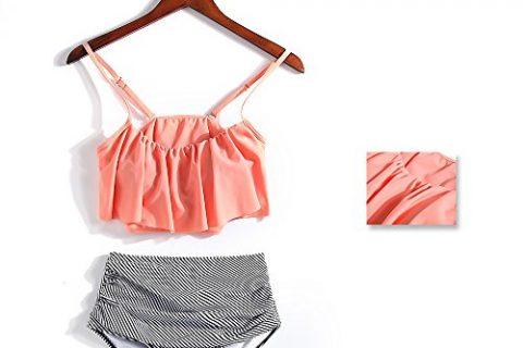 Ssilicone secret Fashion Swimsuit Women Falbala High-Waisted Swimwear Bikini Set