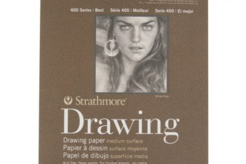 Strathmore 400-2 400 Series Drawing Pad, 6″x8″ Wire Bound, 24 Sheets