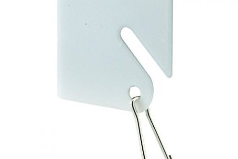 Prime-Line MP4269 Key, Plastic Tags, White, Steel Hook, Pack of 100, 100 Piece