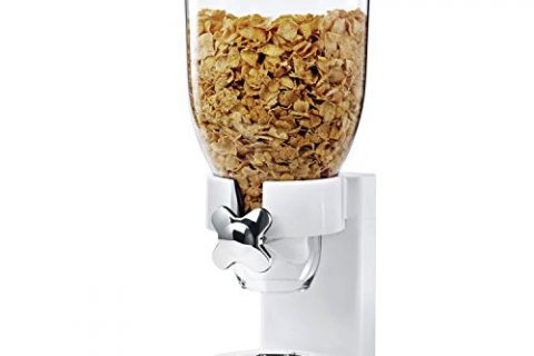 Zevro KCH-06118/GAT101C Indispensable Dry Food Dispenser, Single Control, White/Chrome