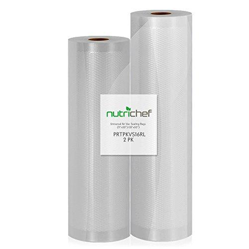 Top 10 NutriChef Vacuum Sealer Bags Pkvs18 – Vacuum Sealers