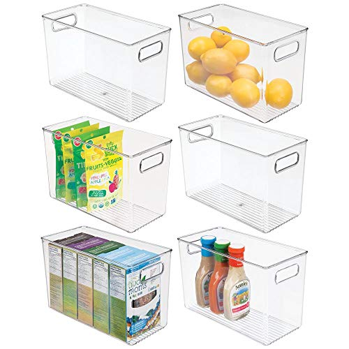 Top 10 Clear Storage Bins with Lids Small with Handle – Refrigerator Replacement Bins